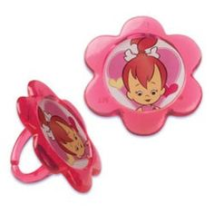 Flintstones  Cupcake Rings - Pebbles (12 Pack)