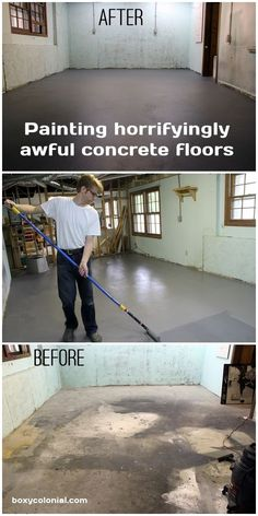 Turn disgusting, stained basement floors into perfectly respectable and attractive basement floors: it's easy!