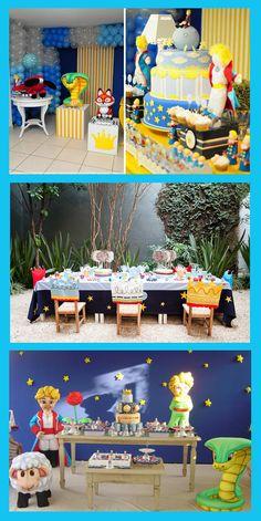 el principito ambientacion de fiesta Little Prince Party, The Little Prince, Prince Birthday Theme, Ideas Para Fiestas, Baby Boy Shower, Party Themes, Party Ideas, Party Planning, First Birthdays