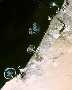 Select NASA Earth images are now for sale as large-scale metallic prints at fotofoamco.com/nasa-earth. Shown: Palm Islands, Dubai #space #earth #nasa #dubai