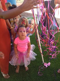 Toddler friendly piñata... Pull string !!!!! It was a large princess (sorry didnt get a full image). The kids loved guessing which string was the key to the candy.