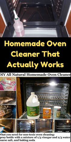 Oven Cleaning Hacks, Homemade Cleaning Supplies, Self Cleaning Ovens, Diy Home Cleaning, Household Cleaning Tips, Cleaning Recipes, House Cleaning Tips, Cleaning Solutions, Cleaning Appliances