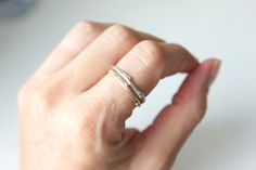 Twig Ring Sterling Silver Recycled Band.