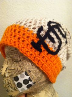 Hey, I found this really awesome Etsy listing at http://www.etsy.com/listing/103947770/sf-giants-baseball-crochet-slouch-beanie