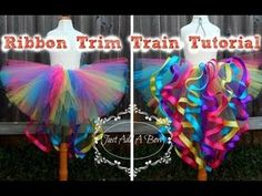 HOW TO: Quick and Easy Way to Cut Tulle Strips for Tutus by Just Add A Bow - YouTube