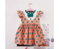 Ollie Peach Polka Dot Dress