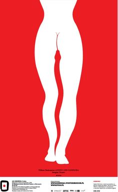 Lex Drewiński, Poland - Shakespeare, Antony and Cleopatra, 1996 #50designers50posters50mbp #STGU #AMS #ASP