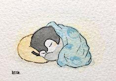 Cute Little Drawings, Cute Animal Drawings, Kawaii Drawings, Cute Drawings, Penguin Art, Penguin Cartoon, Batman Cartoon, Cartoon Turtle, Cartoon Bee