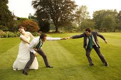 Wedding photo. Groom & best man