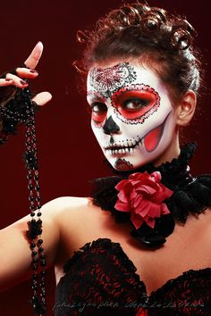 Halloween make up sugar skull by Olena Zaskochenko