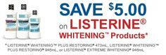 Canada Coupons: $5 Off Listerine Whitening