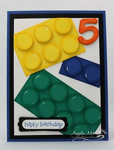 Lego birthday card.  My son would have loved this card when he was younger.