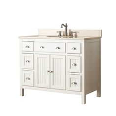 Home Decorators Collection Hamilton Shutter In W X In D - 42 inch bathroom vanity combo