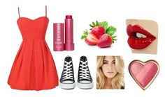 Red beauty by keishafrawley on Polyvore featuring polyvore, beauty, Fresh and Converse
