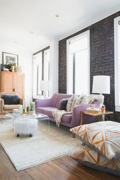 The space has so many different functions - bedroom, dining room, office, living room/ lounge and breakfast bar. (I counted, and there are AT LEAST fourteen places to sit. Unheard of in an NYC apartment!