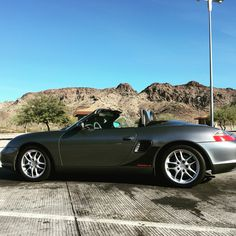 A pic of my Porsche Boxster on an Arizona road trip. December 2015.