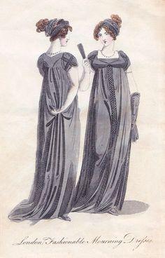 "captainspaceburger:    ""London, Fashionable Mourning Dresses""The Ladies' Magazine, September 1805"