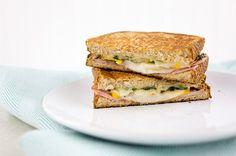 Recipe:+Peach+and+Ham+Grilled+Cheese+Sandwich