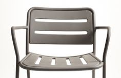 KETTAL - Club aluminum armchair in texture white, texture silver, clay red, warm white, texture old green, texture manganese and warm gray