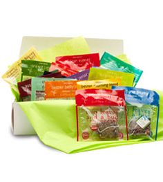 two leaves tea co.  - Complete Sachet Sampler.  Discover each two leaves' tea flavor with this wonderful sampler. Contains one of each two leaves tea sachets - a total of 18 sachets.