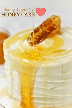 Honey Lover's Honey Cake -- otherwise known as Milk and Honey Cake. SO GOOD! Honey in the frosting and the cake, super moist and lightly spiced.