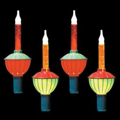 Go Retro This Christmas Season With Clic Home Accents Holiday Incandescent Multi Color Traditional Bubble Light Set