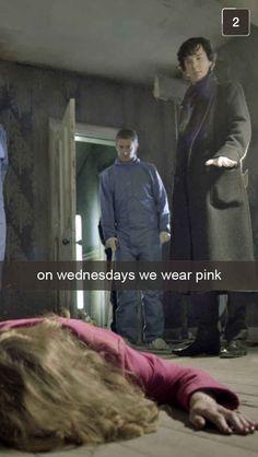 Sherlock and Mean Girls mash up Sherlock Bbc, Sherlock Fandom, Watson Sherlock, Jim Moriarty, Sherlock Quotes, Detective, Mrs Hudson, 221b Baker Street, John Watson