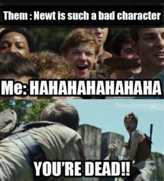 That shank would be soooo dead. THEY'D EVEN BE DEAD THE AFTERLIFE!!! Nuh insulting Newt peeps.