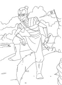 Avatar Tegninger til Farvelægning. Printbare Farvelægning for børn. Tegninger til udskriv og farve nº 11
