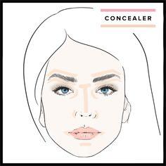 Concealer, makeup application, makeup tutorial