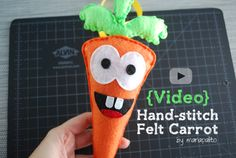 {Video} Happy Carrot Plush Toy – Timelaps | The Inspiration Party By MariaPalito