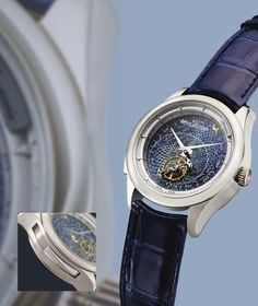 Jaeger-LeCoultre  A FINE AND EXQUISITE LIMITED EDITION WHITE GOLD MINUTE REPEATING WRISTWATCH WITH FLYING TOURBILLON, SKY CHART AND 24 HOUR INDICATION NO 6/75 MASTER GRANDE TRADITION GRANDE COMPLICATION CIRCA 2010