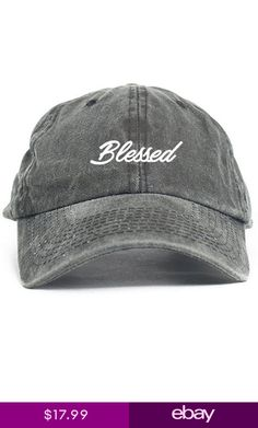 b3caeb0907b Blessed Cursive Custom Unstructured Dad Hat Adjustable Cap New-Black Denim