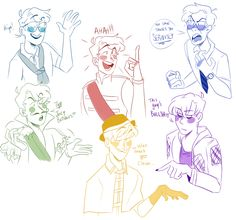 Look I know I promised more full pieces but this was actually really fun to do. Just a bunch of quick Sanders Sides doodles to mess with expressions and a more cartoon-y style. Sander Sides, Thomas Sanders, Thomas And Friends, Dark Side, Youtubers, Anime, Sketches, Fan Art, Drawings