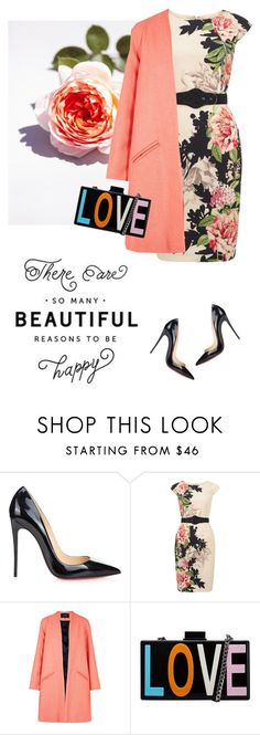 """""""LOVE"""" by lera-chyzh ❤ liked on Polyvore featuring Christian Louboutin, Phase Eight, Paper London and Lipsy"""