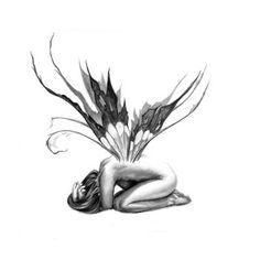 Weinender Engel Tattoo