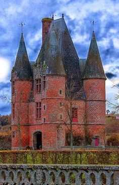 Chateau of Carrouges ~ is a chateau dating partly to the century, located in Orne, Basse Normandie in northwestern France. House of Bohemian Beautiful Castles, Beautiful Buildings, Beautiful Places, Chateau Medieval, Medieval Castle, Castle In The Sky, The Places Youll Go, Places To See, French Castles