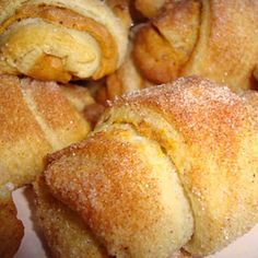 Keri of Shaken Together shared these easy to make Pumpkin Pie Croissants on her blog recently and they quickly became one of our favorites. They are really fast to make plus taste delicious. Sometimes I don't feel like making everything from scratch and this is a recipe which fits the bill. The croissants are made from refrigerated crescent rolls.  Also thanks to Beach Cottage Decorating!
