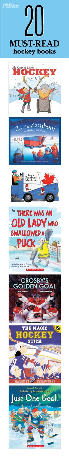 20 must-read hockey books for kids #TodaysParent #Reading family bonding time, family bonding ideas #parenting