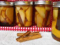 Cinnamon Pears In Apple Juice - Canning Recipe