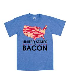Love this Heather Royal 'United States Of Bacon' Map Tee - Men by Airwaves on #zulily! #zulilyfinds