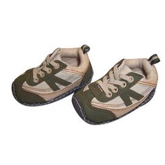 Infant Toddler Boy's Beige and Green Sneaker AccessoWear. $9.99