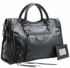 Balenciaga City bag in black/anthracite with regular hardware OR rosegold hardware or silver hardware.