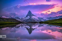 Matterhorn at Peace after Storm! - Pinned by Mak Khalaf Landscapes Valais - Wallisalpscalmcloudseveninglakelandscapematterhornmountainmountainsramtin kazemireflectionskystelliseesummersunsunrisesunsetswitzerlandvispwaterzermatt by RamtinKazemi