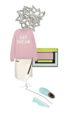 """""""""""DAYDREAM(ing?!)"""" ***THANK YOU, POLYVORE!*Much love to all! xOxO **So excited! My first top fashion set! Pink Zoe Karssen Pink Sweatshirt, White Asymmetric Leather Skirt , Colorblock Clutch, Teal Vans, Diamond Ring....Top Fashion Sets for May 5th, 2015!!!"""" by kohlanndesigns ❤ liked on Polyvore"""