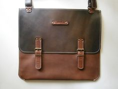 Toscana 15laptop Bag Genuine Leather Briefcase by 74streetbags, $259.00