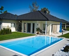 Haus mit Pool Outdoor Decor, Home Decor, Houses With Pools, House, Homemade Home Decor, Decoration Home, Interior Decorating