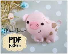 This is a digital tutorial on how to make the Pig  Included step by step instructions, pictures and full size pattern pieces. (no need to enlarge or resize). Its completely hand sew and you dont need a sewing machine.  THIS IS NOT A FINISHED TOY. THIS IS A PDF PATTERN DOWNLOAD.All needed materials you must to purchase yourself.  Approx. size of toy is: about 3.5 inch tall.  PDF tutorial includes: - Step by step pictures - English step by step instructions. - Materials list - Basic stitching…