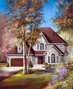 Elevation of European House Plan 49750