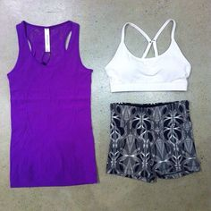 Looking for a new hot yoga outfit? Our Viva Seamless Tank and Lineal Core Shorts are perfect!